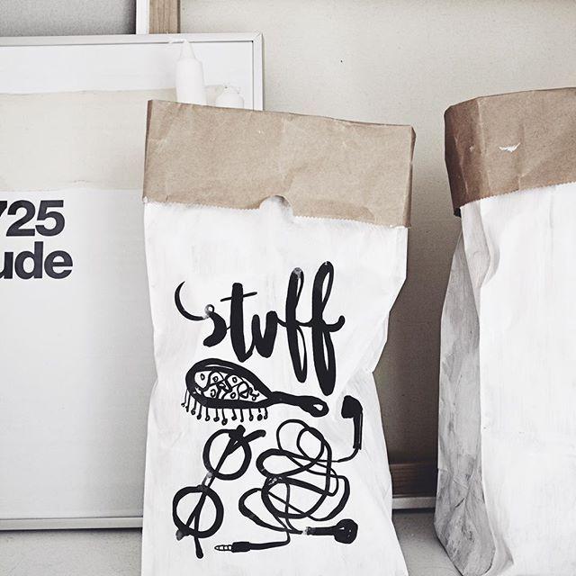 DIY paper bag for stuff