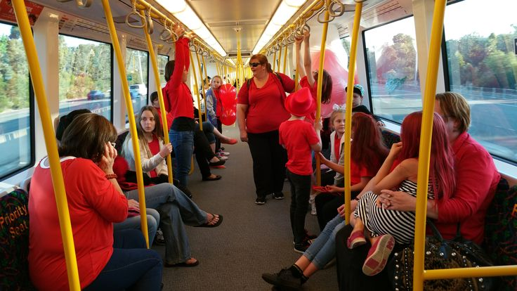 Travelling in style to Light it Red for Dyslexia 2015 in Perth.