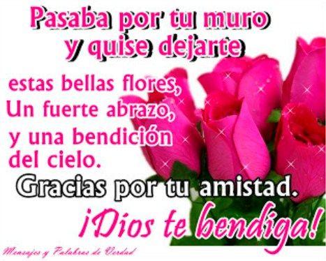 Imágenes de rosas hermosas con frases de amistad