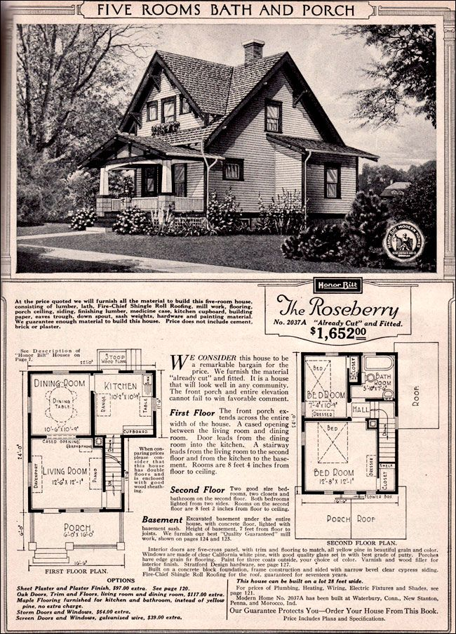 1920 Sears Home Kits Bungalows | Craftsman-style Bungalow - 1923 Sears Kit House - Roseberry