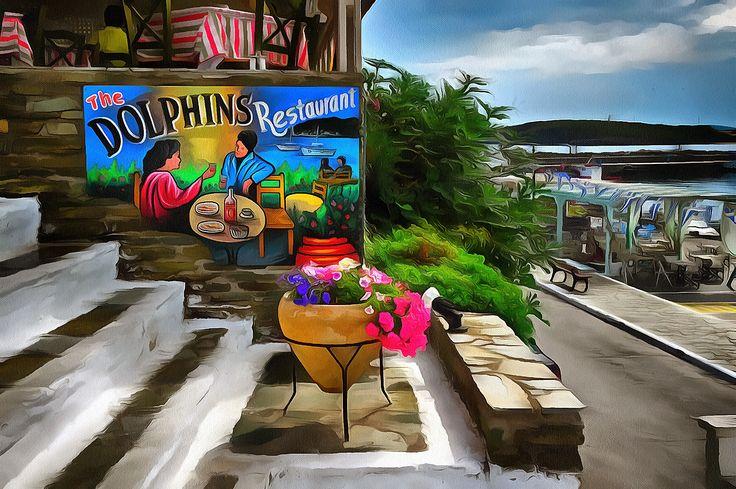 The Dolphins Restaurant. Batsi, Andros.