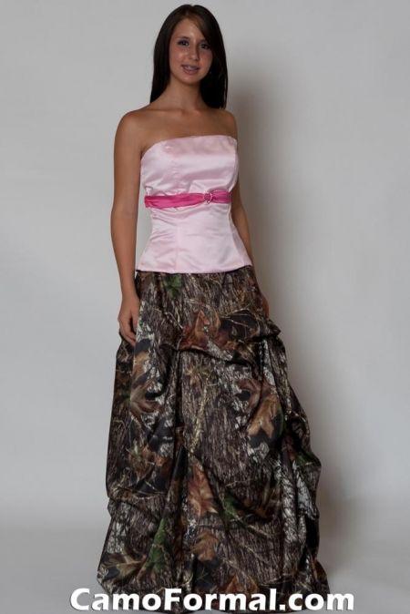Camo Wedding Dress Style S8892 Top and Skirt - Camo Wedding Dress - Dress Photos