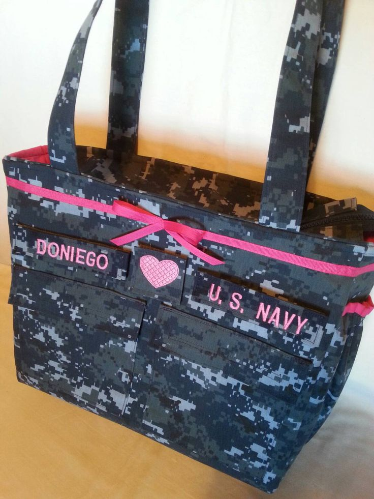 U S Navy anchor Diaper Bag handmade camo trending now custom embroidery choose colors words trims daddy diaper bag personalized for you gift by bythebayoriginals on Etsy