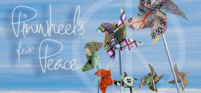 imagine. . . whirled peace! Get ready for Sept. 21st, International day of Peace!  Make your pinwheels and order your pinwheel book, posters and shirts now!