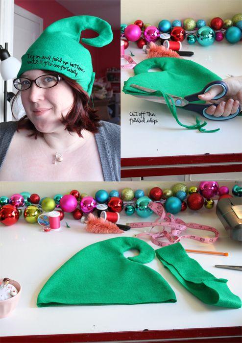 How to make an elf felt hat.