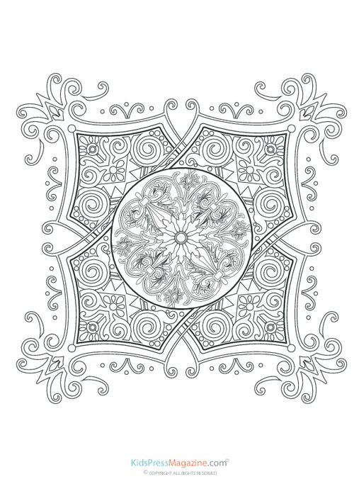 yin yang coloring pages