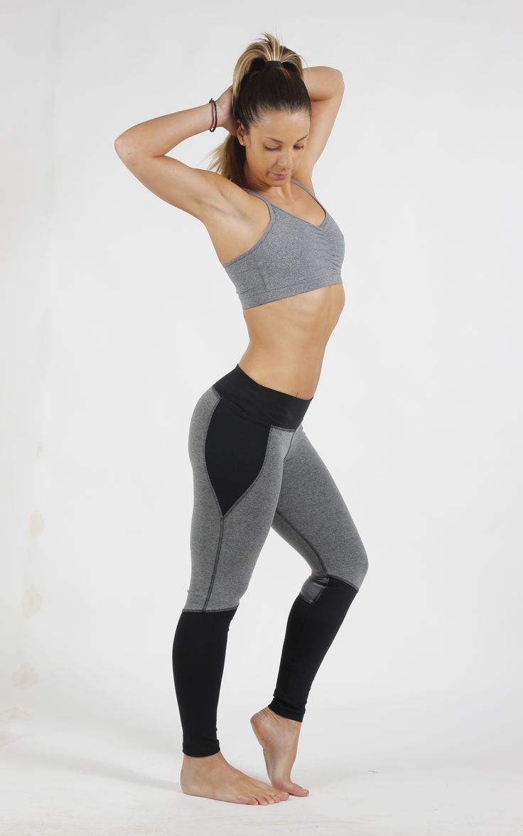 Leggins Cortes Negro Gris Sweet Sweat