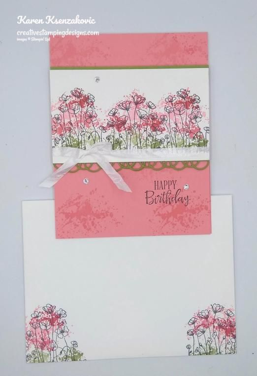 Stampin Up Painted Poppies Sneak Peek In 2020 Handgefertigte Karten Karten Handgefertigt