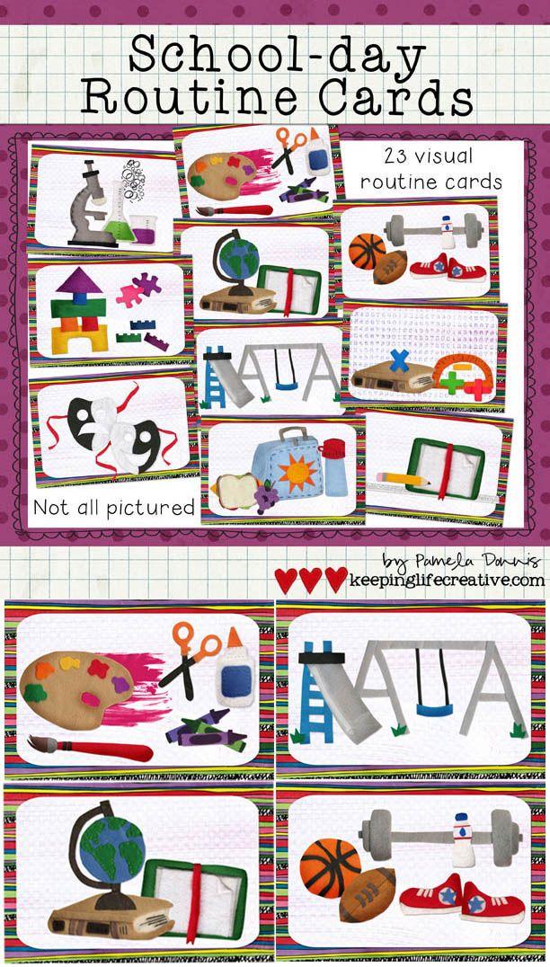 Classroom Setup Ideas For Kindergarten ~ Schedule cards school day version firstgradefaculty