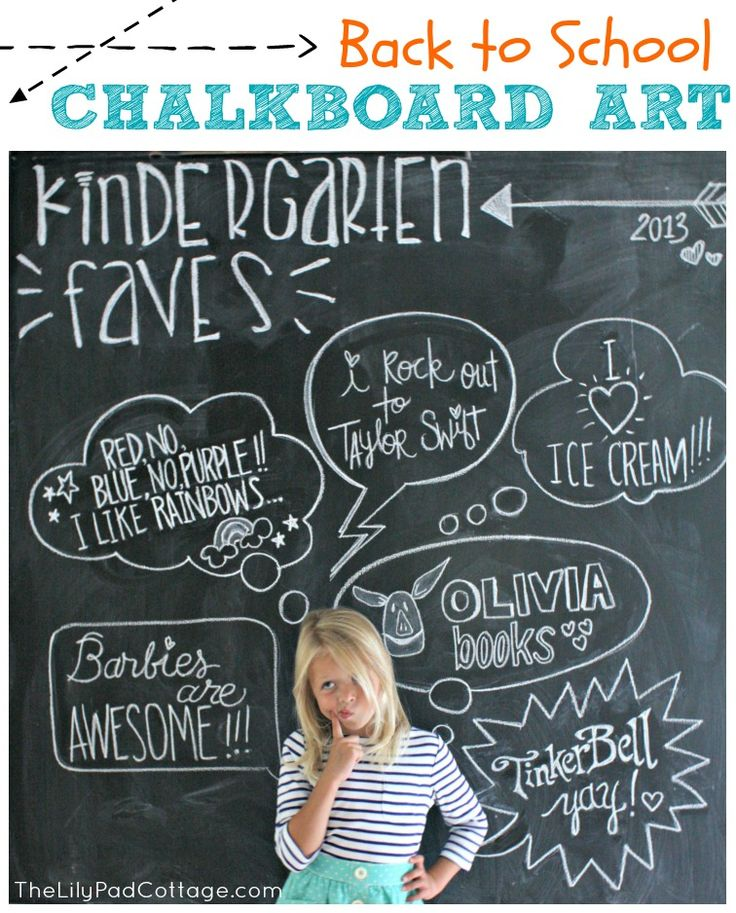 Back to School Chalkboard Art - The Lilypad Cottage Note2Self: When its time for school I want to take a pic of them like this of all what they want to learn