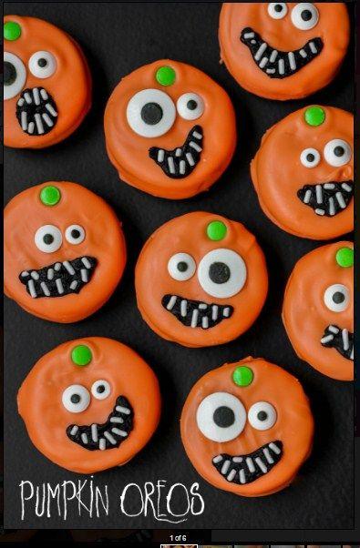 Pumpkin Oreos - Hallowen