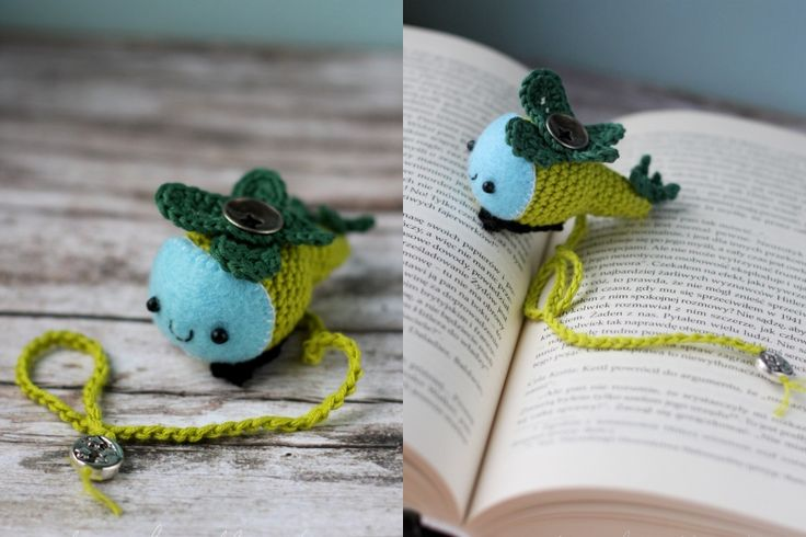 Crochet helicopter - a perfect book mark for a boy!