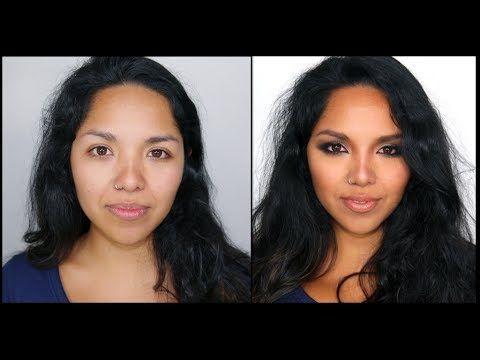 Maquillaje Natural Para pieles Trigueñas y como Esculpir el Rostro - YouTube