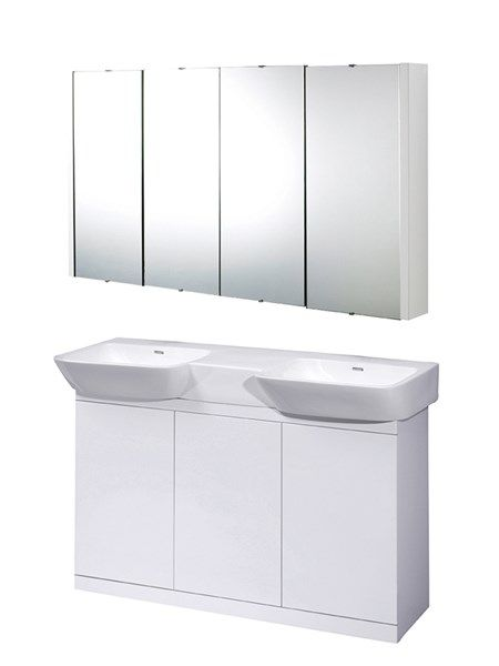 Please do not confuse this amazingly crafted, long lasting bathroom furniture with cheap replicas available elsewhere. We do not stock the lookalike we stock the best for the bathroom, built to last.  Finishes High Gloss White  Touch open & close doors  Single basin  Supplied rigid  Ceramic basin  Add your Optional Mirror Cabinet for only £120.95, was £199