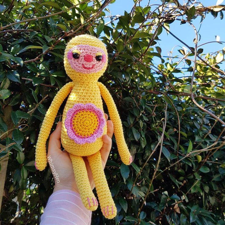 Sunny the Sunshine Sloth is finished! She's such a cutie