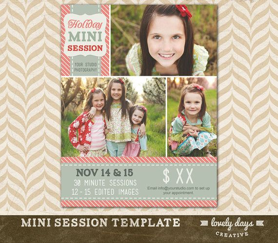 Christmas Mini Session Template Holiday Blog Board for Photographers INSTANT DOWNLOAD