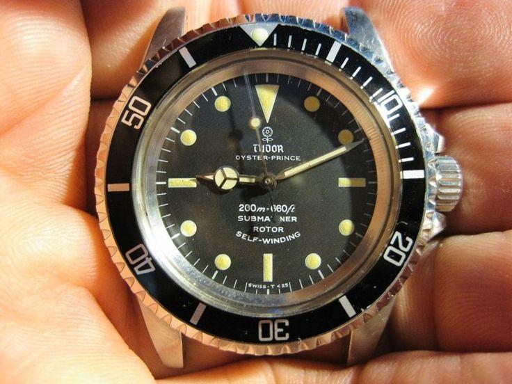 ROLEX TUDOR SUBMARINER 7016/0 1968 SS XLNT DIAL 25 JEWEL GENUINE