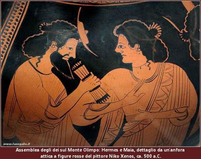 Maia, la più bella e la più timida delle Pleiadi Maia era la più bella e la più timida delle Pleiadi e visse in silenzio e da sola in una grotta sul monte Cillene, in Arcadia. Omero, nell'Inno a Ermes, racconta che Zeus, però, scoprì quella donna  #ermes #maia #pleiadi #zeus