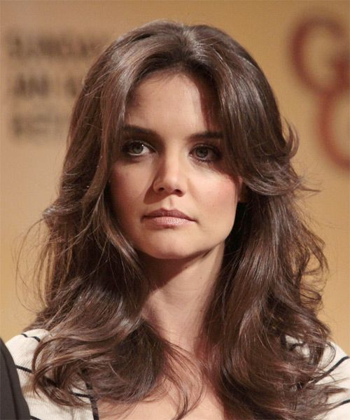 Katie Holmes Long Wavy Formal Hairstyle – Mocha Hair Color