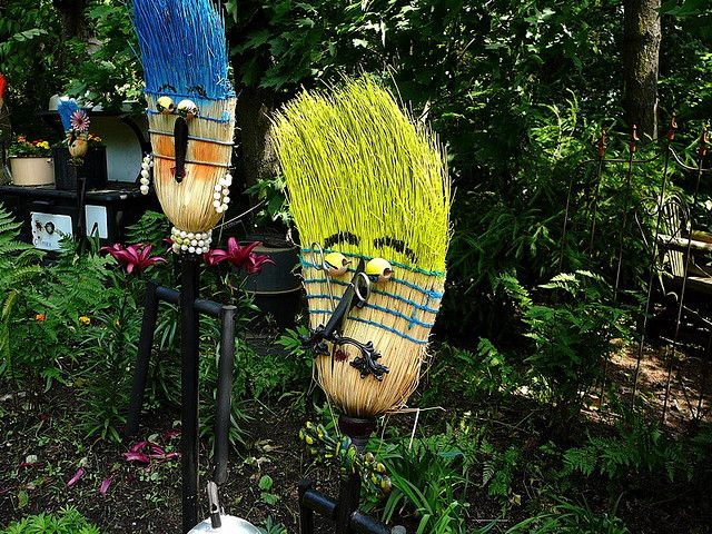Unique Garden Junk Art | garden art | Flickr - Photo Sharing!