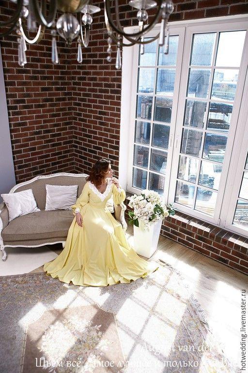 """Купить """"Солнечное"""" Платье макси - свадебное платье, платье невесты, белое платье, венчальное платье"""