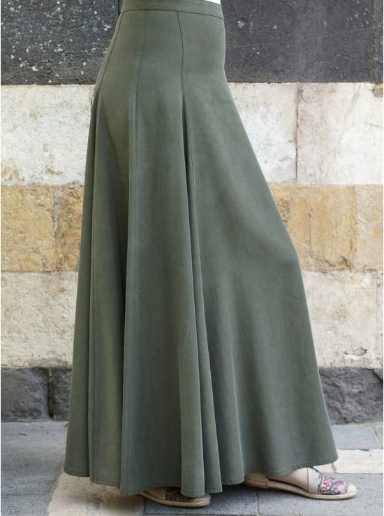 Professional Flared Maxi Skirt