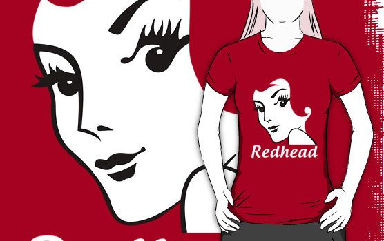 Miss Redhead (text) [iPhone / iPod case / Tshirt / Print] by Damienne Bingham