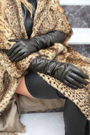 """20 """" lange Luxus-Lederhandschuhe"""