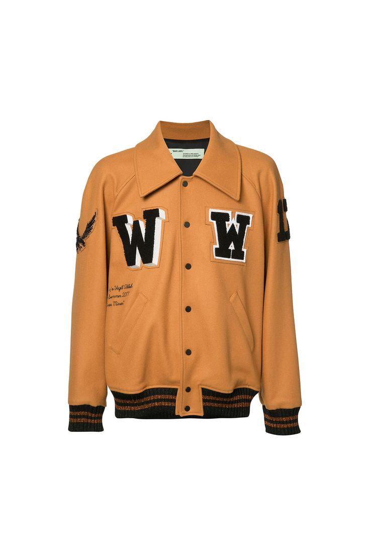 {Off-White / 01 clothing / 07 outerwear / 01 jacket / 03 varsity} Letterman Jacket