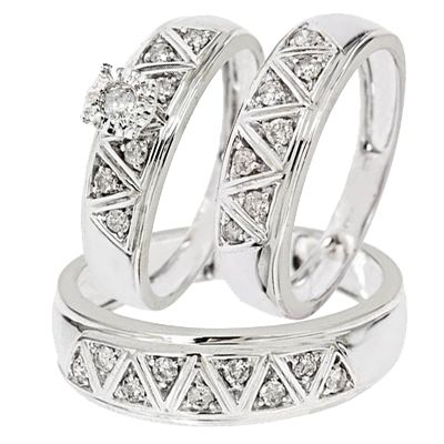 Fortunately It Is Easy To Find Inexpensive High Quality Trio Wedding Ring Sets That