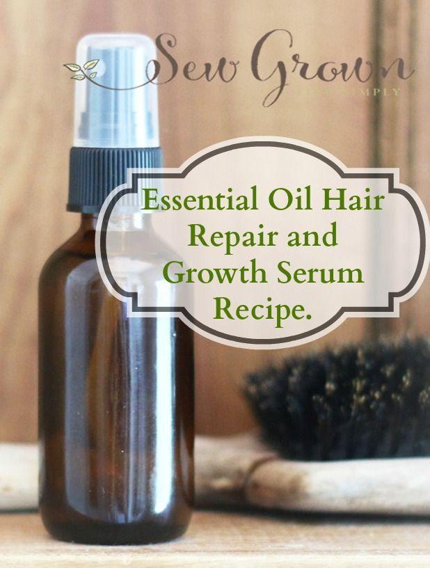 Essential Oil Hair Repair and Growth Serum Recipe.