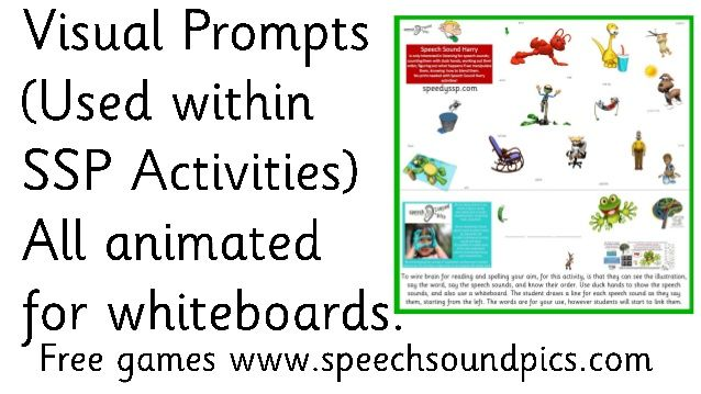 Visual Prompts - All SSP Levels - Used within Decoding and Encoding Activities