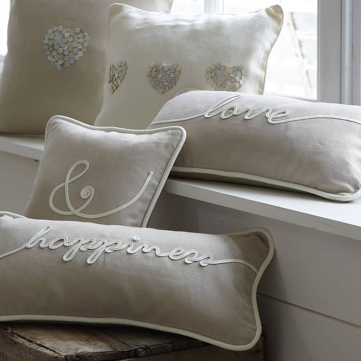 """Love & happiness cushions from """"Not on the high street"""""""