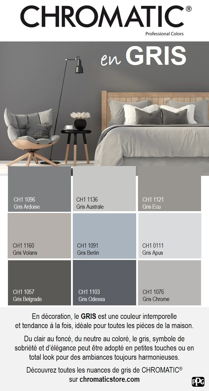 64 best chromatic gris neutres et colores images on pinterest colors point of purchase and grey. Black Bedroom Furniture Sets. Home Design Ideas