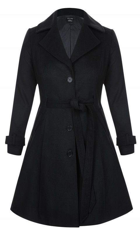 09fb994e358 Shop Women s Plus Size Frill Back Coat - Coats - Jackets