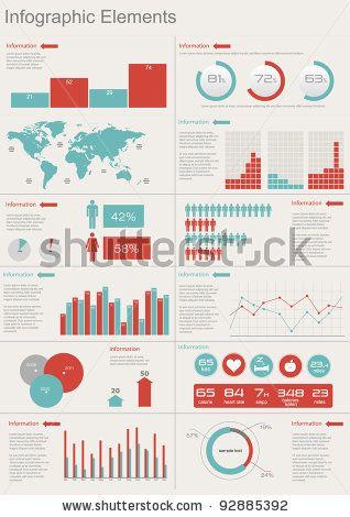 Blue Info Graphic Elements Stock Vector 95290309 : Shutterstock