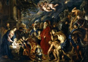 Adoration of the Magi by Rubens Prado Müzesi