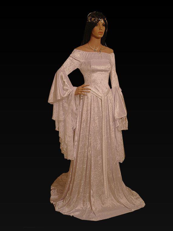 medieval handfasting  wedding dress custom made