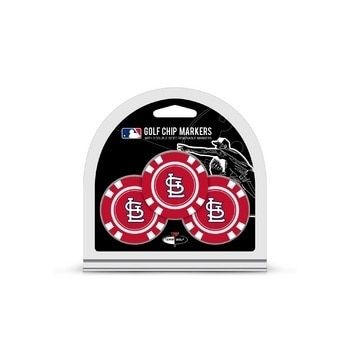 St. Louis Cardinals Golf Chip with Marker 3 Pack