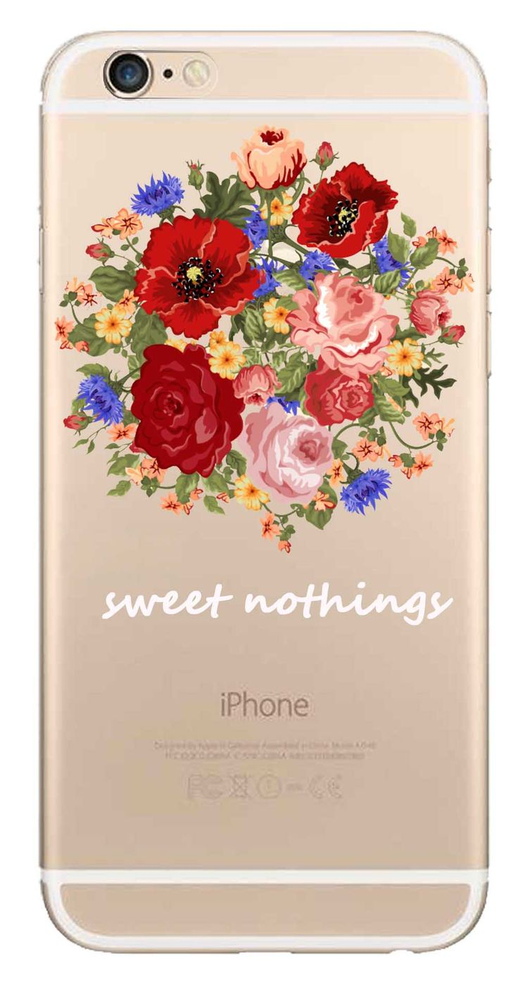 Whatskin DIY Style Color Drawing Flowers Series 13 Clear Back Cover for iphone 6