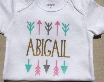 Baby Girl Onesie Monogram Baby Girl Newborn por SassyGirlsDesign
