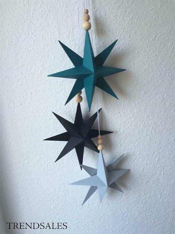 Stjerner - Origami, ide til ophæng ved pusleplads