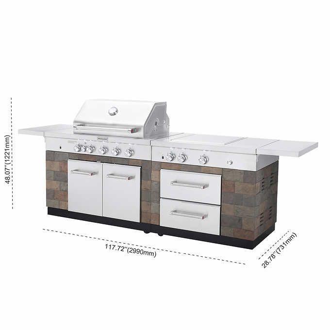 Kitchenaid 9 Burner Island Grill Patio Kits Grill