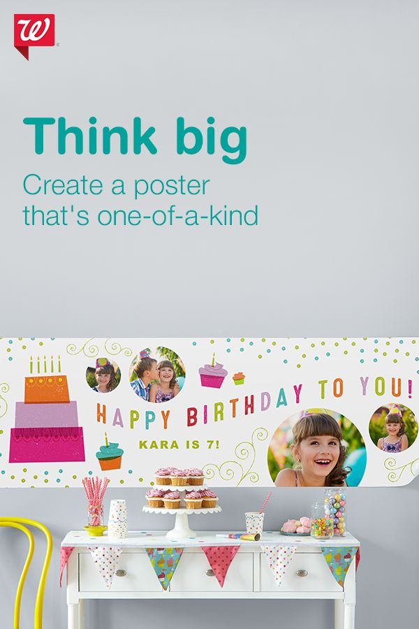 Turn your celebrated moments into photo posters that will look great on any wall! Make picture-perfect prints with a variety of layouts and designs.