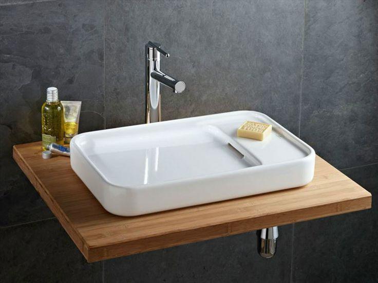Vasque à Poser Pastille En Grès émaillé 53 X 35 Cm   Leroy Merlin   149
