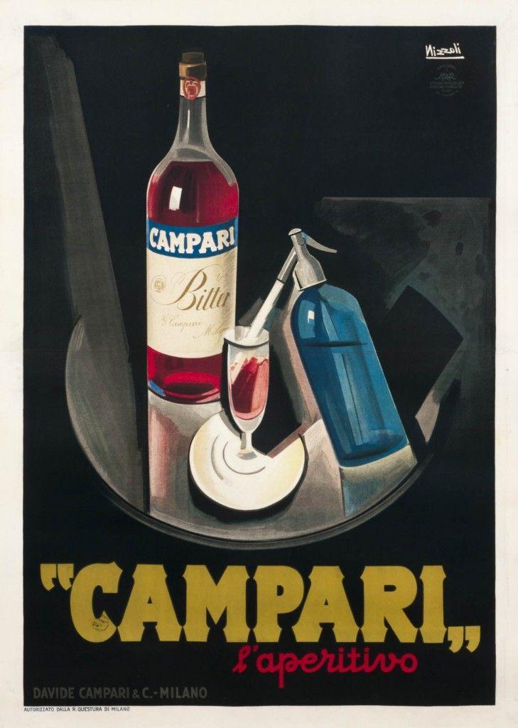 """Marcello Nizzoli, """"Campari l'Apertivo,"""" 1926.  Lithograph, 37 x 53 inches."""