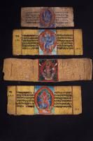 Four book pages Tibet/Nepal, 19th Century