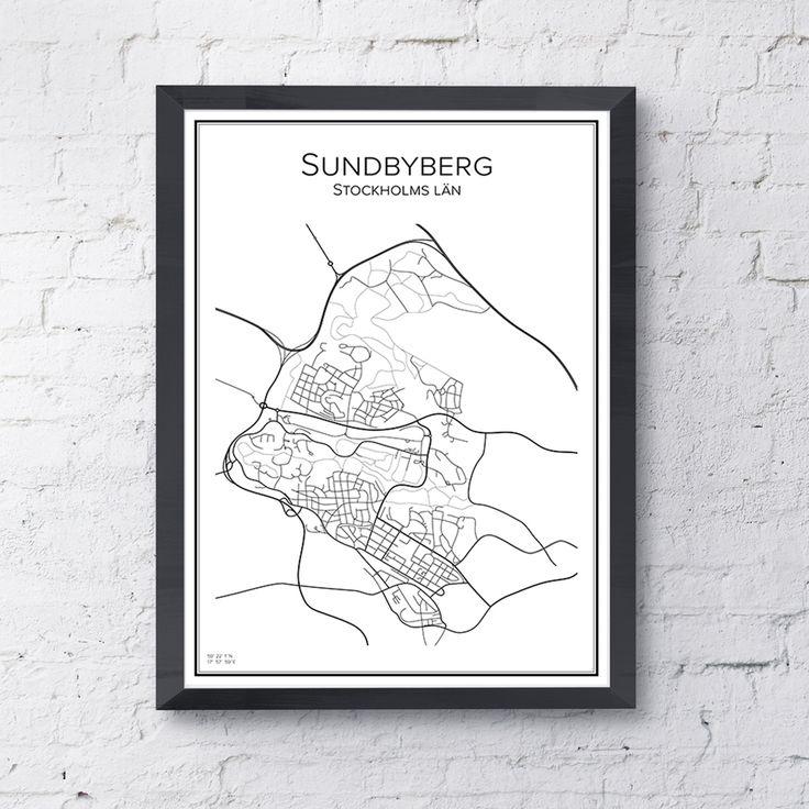 Stadskarta Sundbyberg | TELLING STORIES