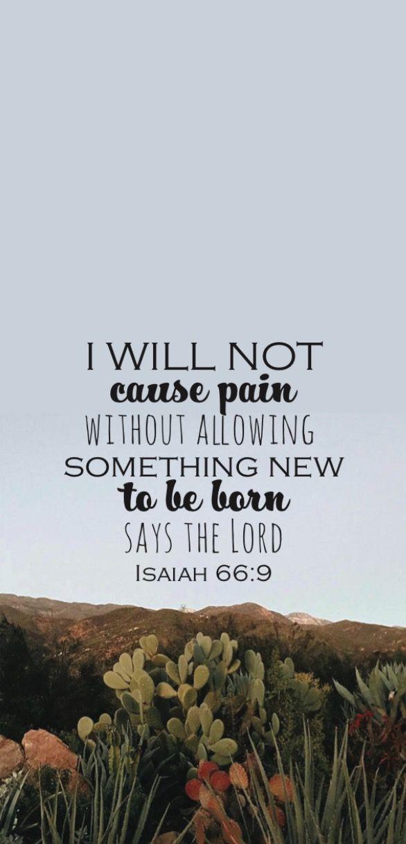 Bible verse phone screen background #isaiah66:9 #wallpaper