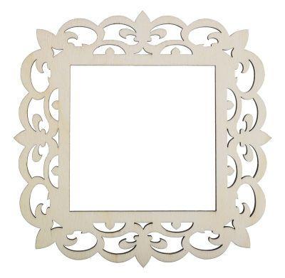 4x4 Laser Cut Wood Frame - Fleur-de-lis - Google Search